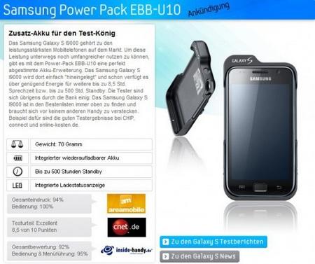 Samsung Power Pack EBB-U10 for Galaxy S