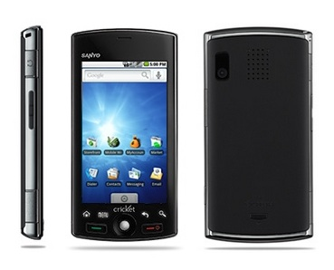 Cricket Sanyo Zio by Kyocera Android Smartphone front back side