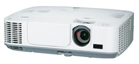 NEC M260X, M260W and M300X Portable Series Projectors front