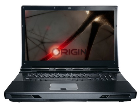 ORIGIN EON17 Gaming Notebook with Core i7-980X Desktop CPU and GeForce GTX480M front