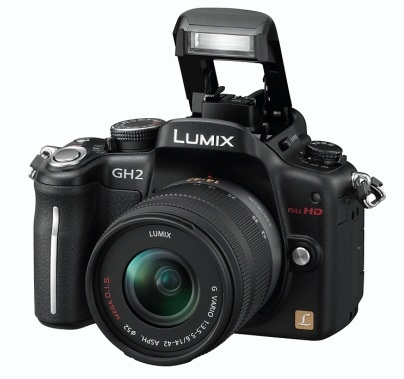Panasonic LUMIX DMC-GH2 Hybrid Touch-Control Micro Four Thirds Camera flash