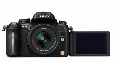 Panasonic LUMIX DMC-GH2 Hybrid Touch-Control Micro Four Thirds Camera rotating lcd