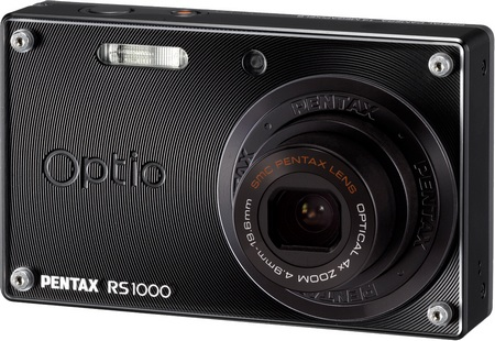 Pentax Optio RS1000 Digital Camera with Interchangeable Faceplate black
