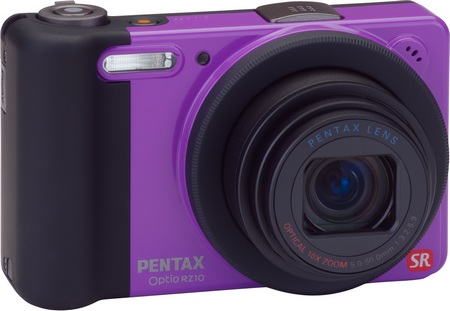 Pentax Optio RZ10 10x Zoom Camera violet