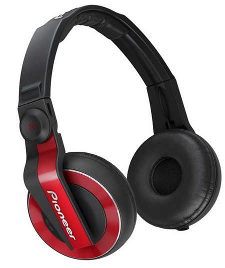 Pioneer HDJ-500 DJ Headphones red