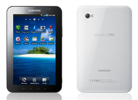 Samsung Galaxy Tab Tablet front back