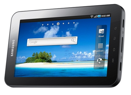 Samsung Galaxy Tab Tablet landscape angle