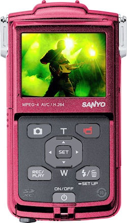 Sanyo Xacti VPC-PD1 Full HD Camcorder for Europe back