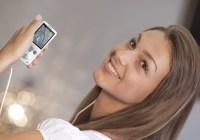 Sony Walkman S750 Ultra Slim PMP in use