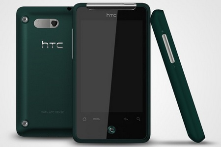 HTC Gratia Android phone deep green