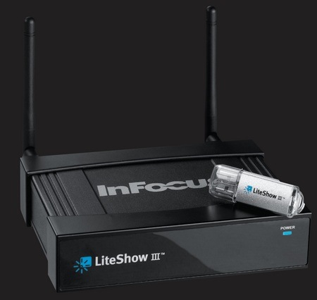 InFocus LiteShow III Wireless Adapter adds Wireless Capability to any projector and display