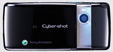 KDDI au Cyber-shot S006 16.2 Megapixel Phone by Sony Ericsson black back