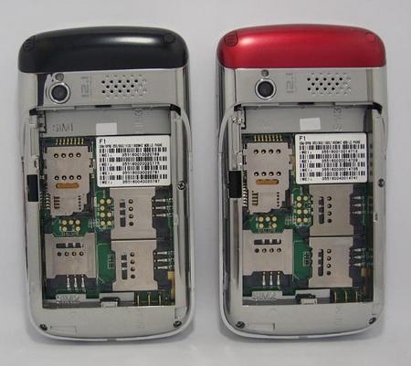 OTECH F1 Quad-SIM Mobile Phone sim card slots