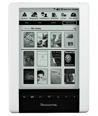 Pandigital Novel Personal eReader (PRD06E20WWH8) with WiFi