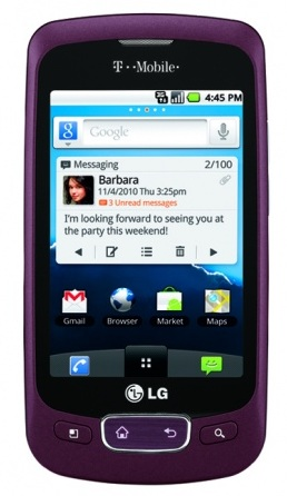T-Mobile LG Optimus T budget Android Phone Burgundy