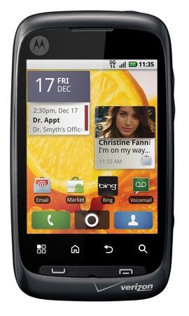 Verizon Motorola CITRUS Entry-level Android Smartphone