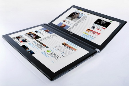 Acer ICONIA Dual-screen Tablet Notebook with Multitouch 1