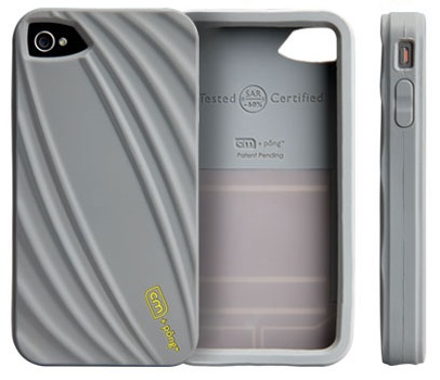 Case-mate Bounce iPhone 4 Case Reduces Cellphone Radiation grey