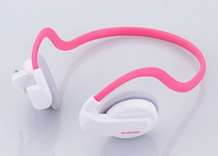 Elecom Actrail EHP-SPNBS01 Wireless Headphones for iPod Shuffle pink