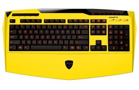 Gigabyte Aivia K8100 Gaming Keyboard yellow