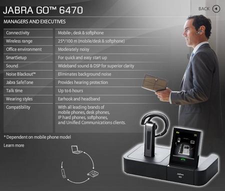 Jabra GO 6470 Headset Microphone Lync