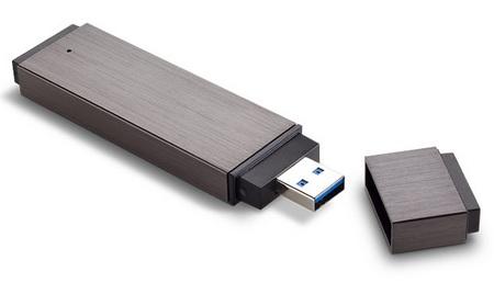 LaCie FastKey SSD USB 3.0 Drive cap removed