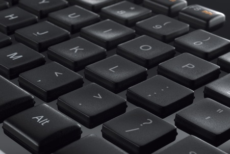 Logitech Wireless Solar Keyboard K750 incurve keys