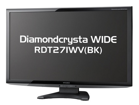Mitsubishi Diamondcrysta WIDE RDT271WV(BK) LED-Backlit LCD Display