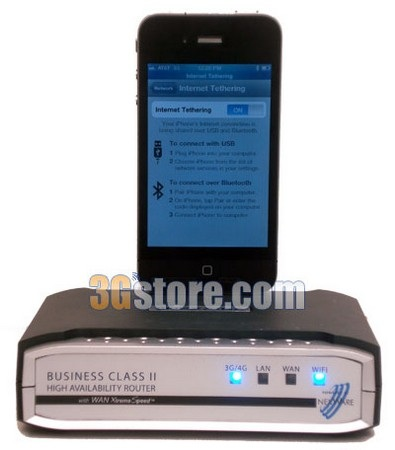 Nexaira BC2 3G 4G Router supports iPhone Tethering connected iphone