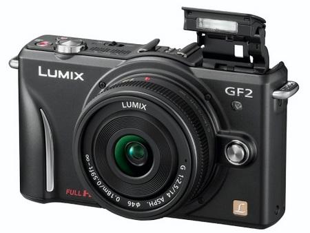 Panasonic LUMIX DMC-GF2 DSLMicro Mirrorless Camera flash open