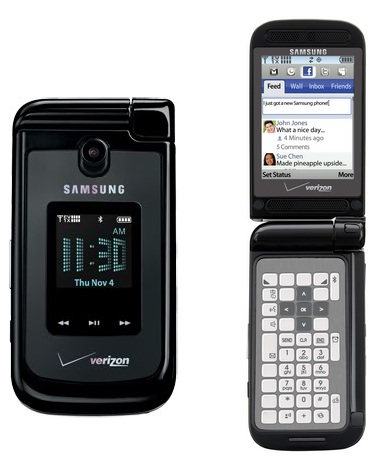 Verizon Samsung Zeal Dual-Hinge Messaging Phone with E-ink QWERTY Keypad 1