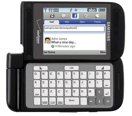 Verizon Samsung Zeal Dual-Hinge Messaging Phone with E-ink QWERTY Keypad