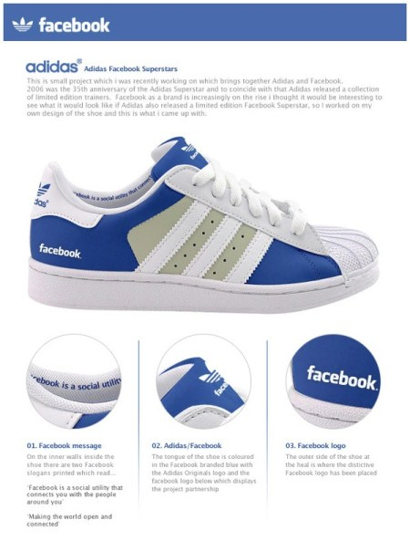 Adidas Facebook Superstars Shoe