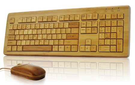 Full Bamboo Keyboard and Mouse Combo