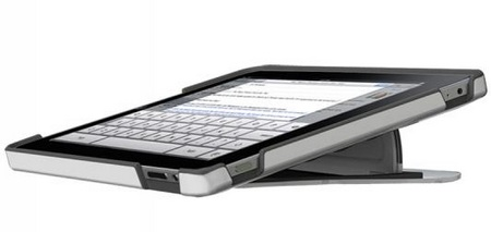 Scosche kickBACK P1 Hybrid Case with Kickstand for iPad low angle
