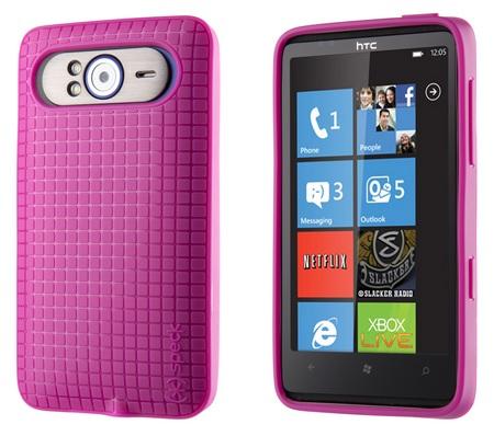 Speck PixelSkin HD for HTC HD7 pink 1