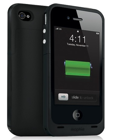 mophie juice pack plus for iPhone 4 black
