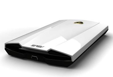 Asus Lamborghini External Hard Drive white