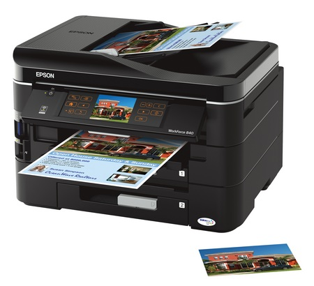 Epson WorkForce 840 All-in-One WiFi Printer
