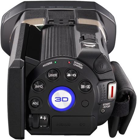 JVC GS-TD1 Full HD 3D Camcorder controls