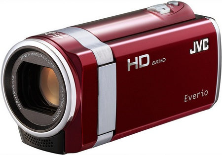 JVC HD Everio GZ-HM450 and GZ-HM440 Full HD Camcorders red