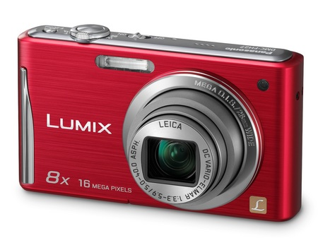 Panasonic LUMIX DMC-FH27 digital camera with 8x zoom red