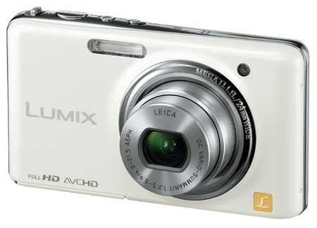 Panasonic LUMIX DMC-FX78 Ultra-Compact Digital Camera with Touchscreen and Full HD Video white