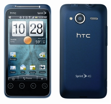 Sprint HTC EVO Shift 4G Android Phone with QWERTY Keyboard front back