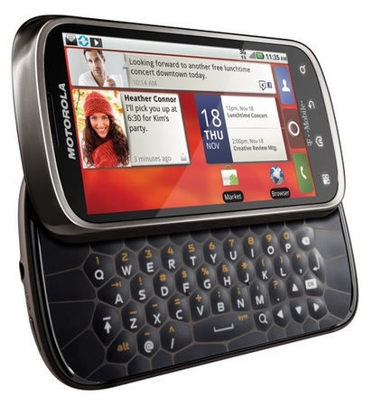 T-Mobile Motorola CLIQ 2 QWERTY Android Phone angle