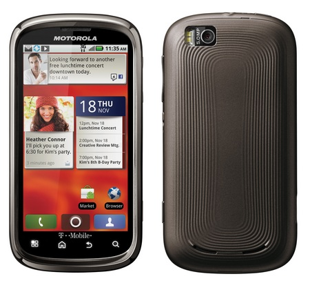 T-Mobile Motorola CLIQ 2 QWERTY Android Phone front back