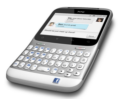 HTC ChaCha Android Social Phone Facebook button