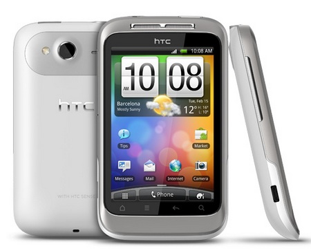 HTC Wildfire S Affordable Android Smartphone white