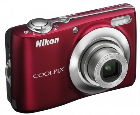 Nikon CoolPix L24 digital camera red