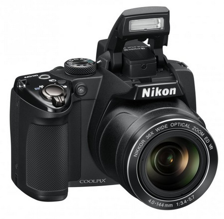 Nikon CoolPix P500 36x Ultra Zoom Camera flash open